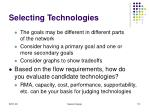 selecting technologies112