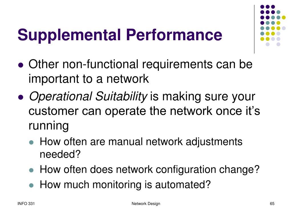 Supplemental Performance