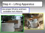 step 4 lifting apparatus