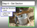 step 4 set section