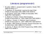 literatura programov n
