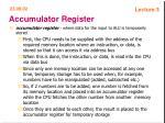 accumulator register