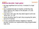 address decoder logic gates36