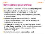 development environment47