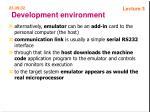 development environment48