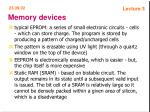 memory devices19