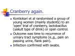 cranberry again