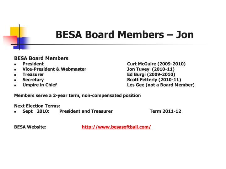 Besa board members jon