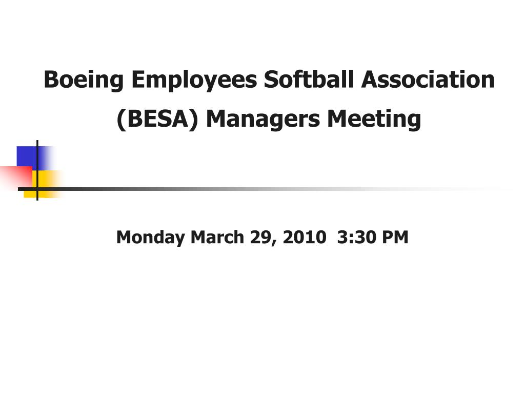 boeing employees softball association besa managers meeting l.