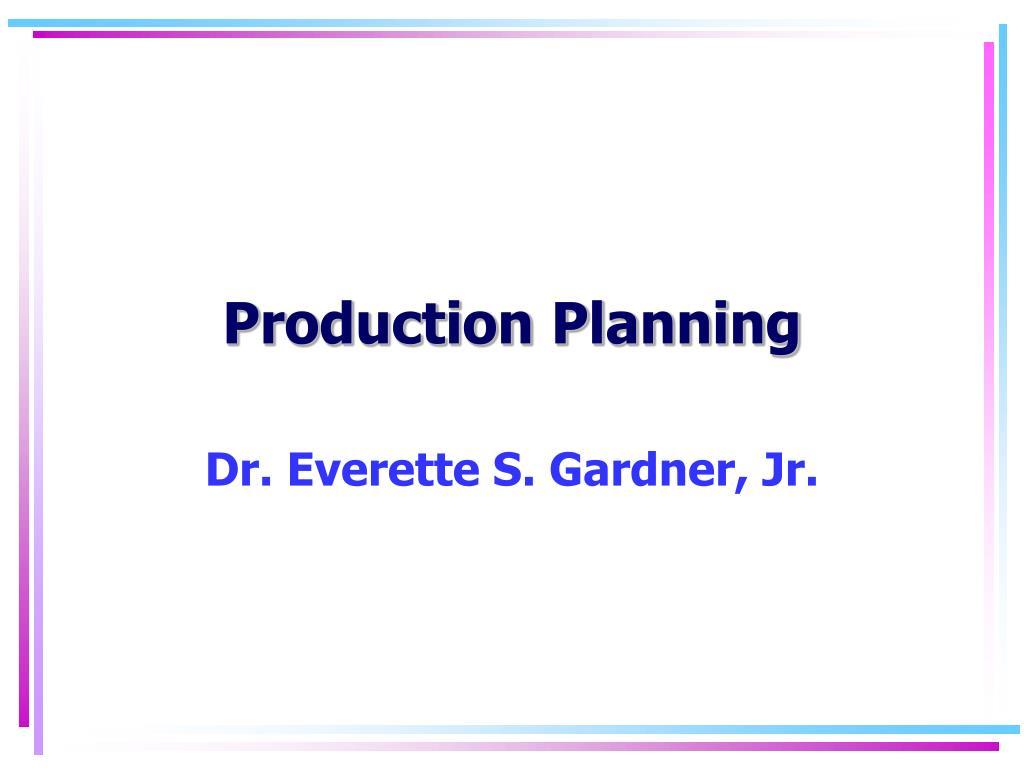 production planning l.