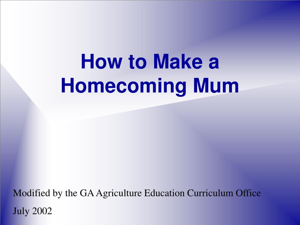 how to make a homecoming mum l.