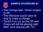 sample excercise 2