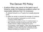 the denver pd policy