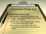 overhand throw cont