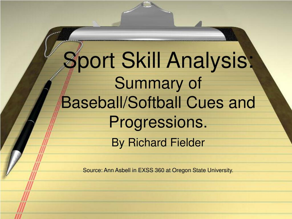 sport skill analysis summary of baseball softball cues and progressions l.