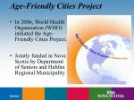 age friendly cities project