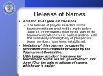 release of names12