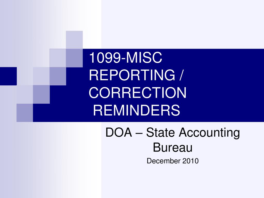 1099 misc reporting correction reminders l.
