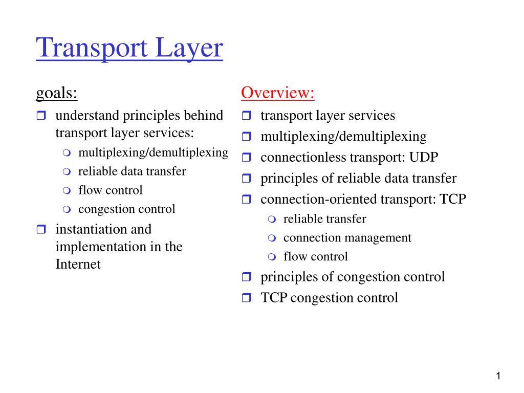 transport layer l.