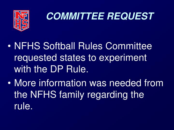 Committee request