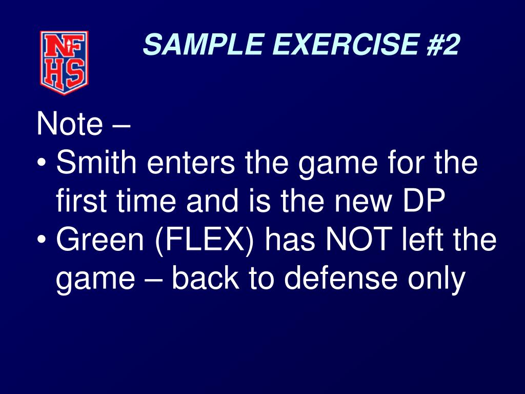 SAMPLE EXERCISE #2