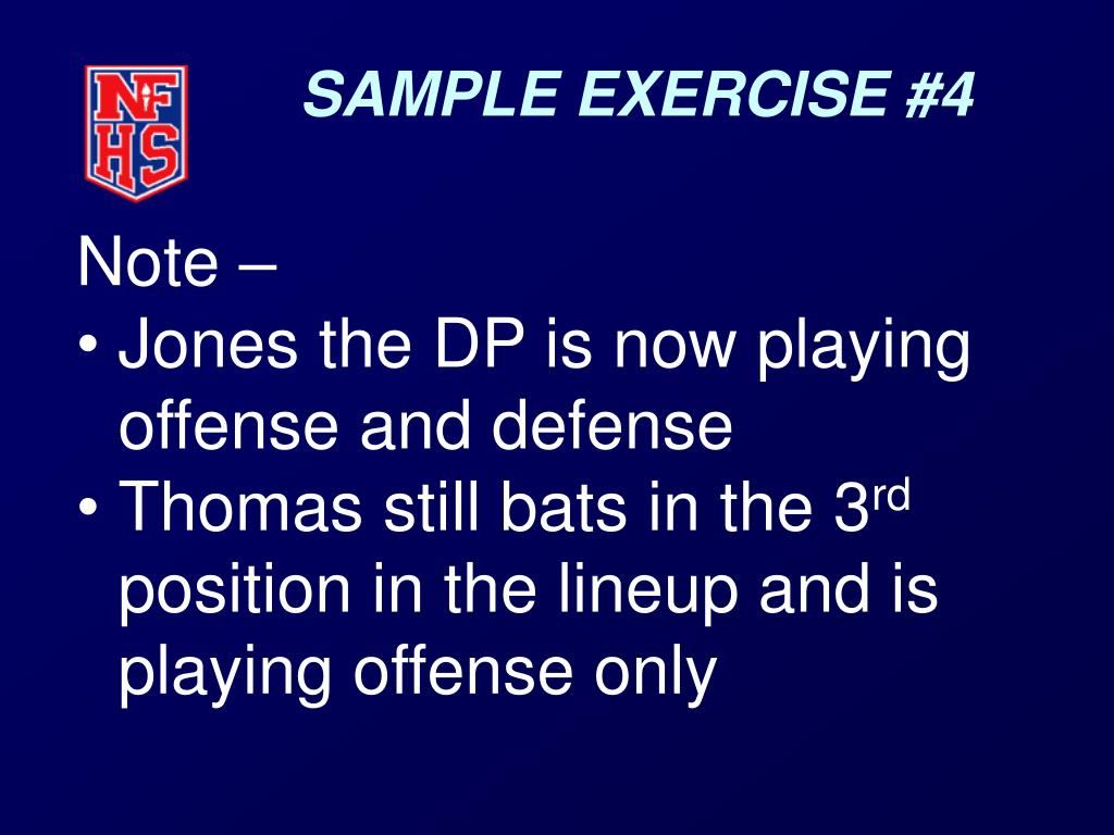 SAMPLE EXERCISE #4