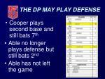 the dp may play defense12