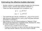 estimating the effective bubble diameter