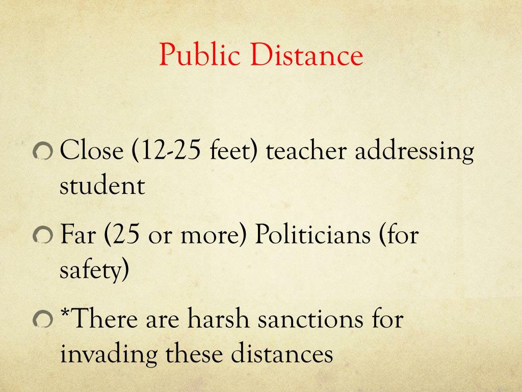 Public Distance