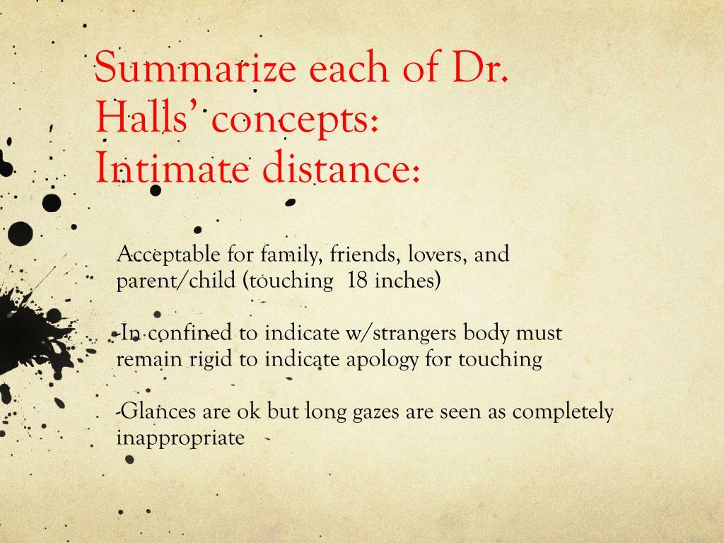 Summarize each of Dr. Halls' concepts: