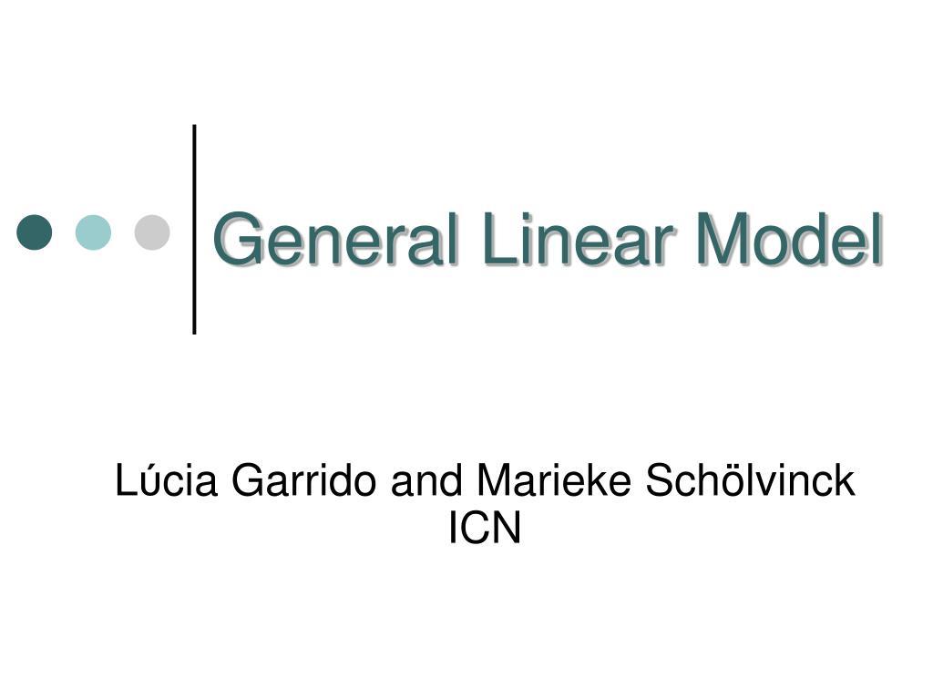 general linear model l.