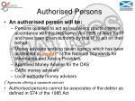 authorised persons