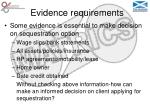 evidence requirements35