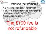 evidence requirements36