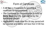 form of certificate