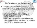 s9 certificate for sequestration10