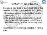 section10 trust deeds