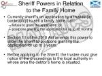 sheriff powers in relation to the family home