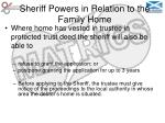 sheriff powers in relation to the family home46