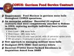 conus garrison food service contract