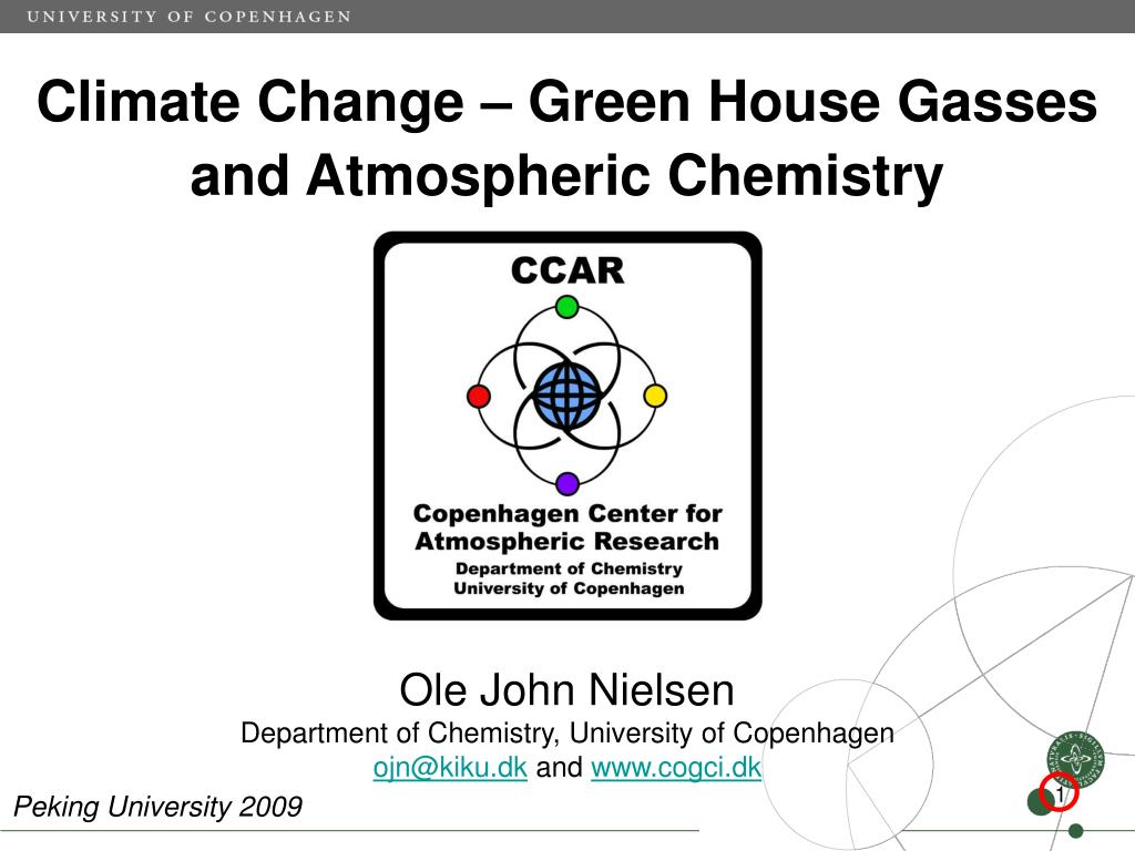 climate change green house gasses and atmospheric chemistry l.