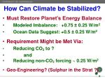 how can climate be stabilized