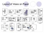 layout of views on paper