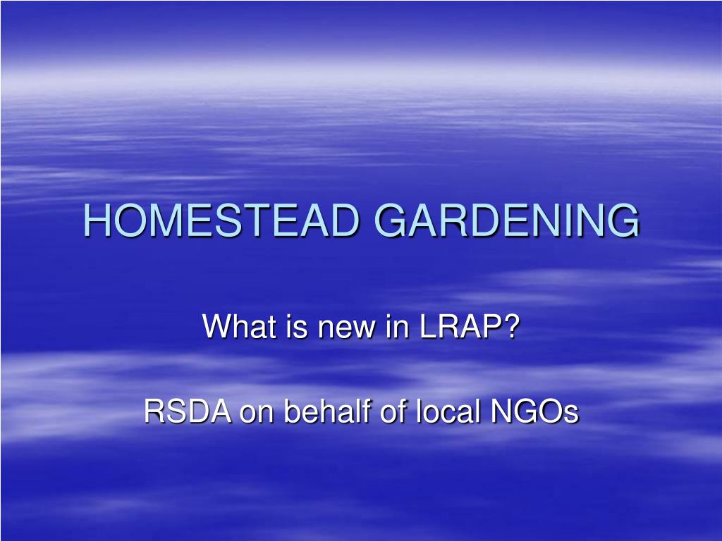 homestead gardening l.