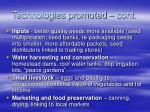technologies promoted cont