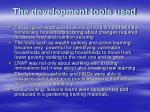 the development tools used