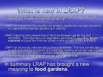 what is new in lrap