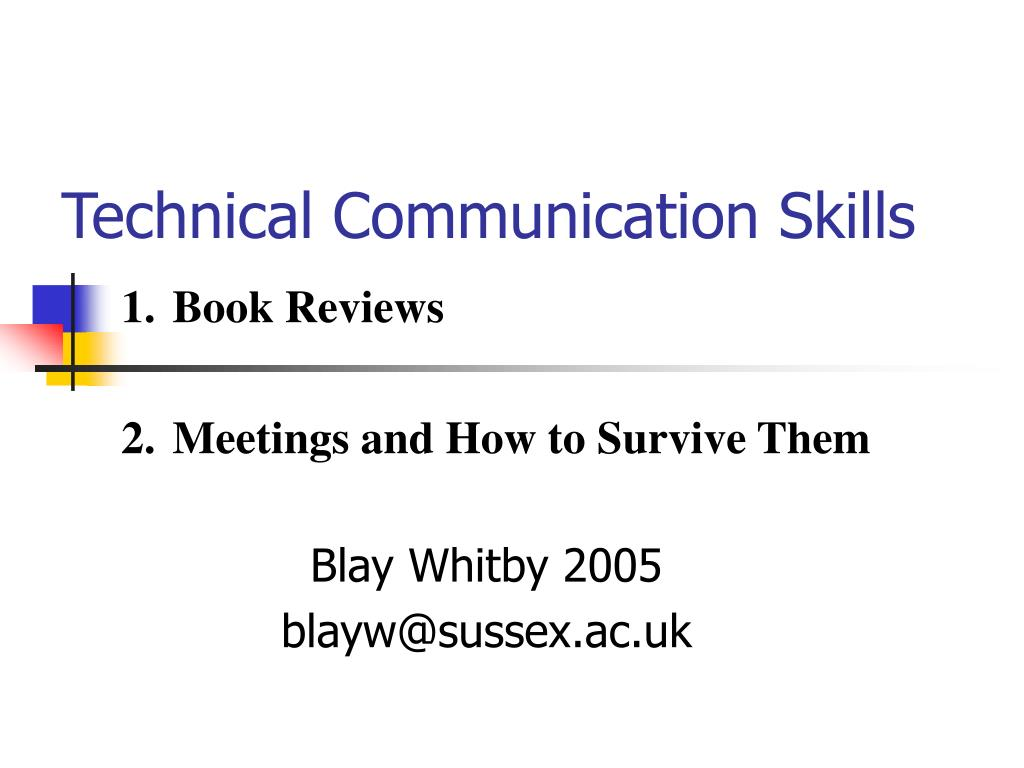 technical communication skills l.