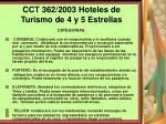 cct 362 2003 hoteles de turismo de 4 y 5 estrellas117