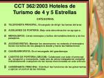 cct 362 2003 hoteles de turismo de 4 y 5 estrellas118